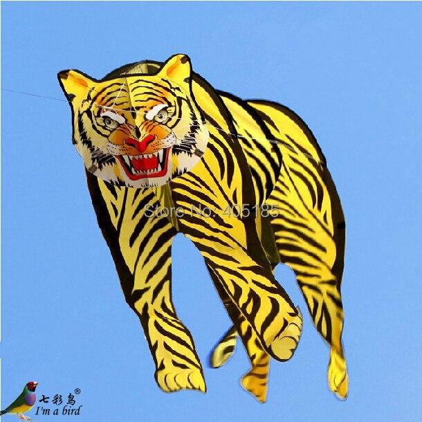 Livraison gratuite Sports d'amusement en plein air 2 m 3D tigre cerf-volant bon vol
