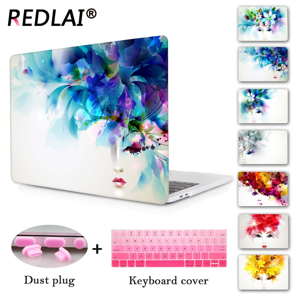 Redlai Women Face Transparent Crystal For Apple Mac Macbook Pro 13 Case Coverfor Pro 13 15 Inch With Retina Display Air 13 11 long mesh sheer slip babydoll page 6