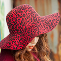 2017 Spring Summer Sun Hats Wide Brim Wool Elegant Vintage Hot Sale Women Ladies Bowknot Decoration Leopard Beach Hat Caps S1794