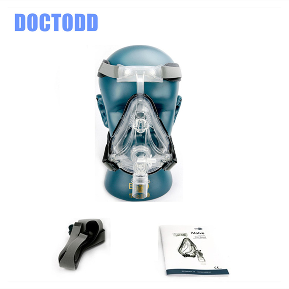 DOCTODD FM1 Full Face Mask  S M L Sizes For Anti Snoring CPAP BiPAP Silicone Gel Material With Headgear Clip User Manual doctodd gii bpap t 20s cpap machine w free mask humidifier and spo2 kit respirator for apnea copd osahs osas snoring people