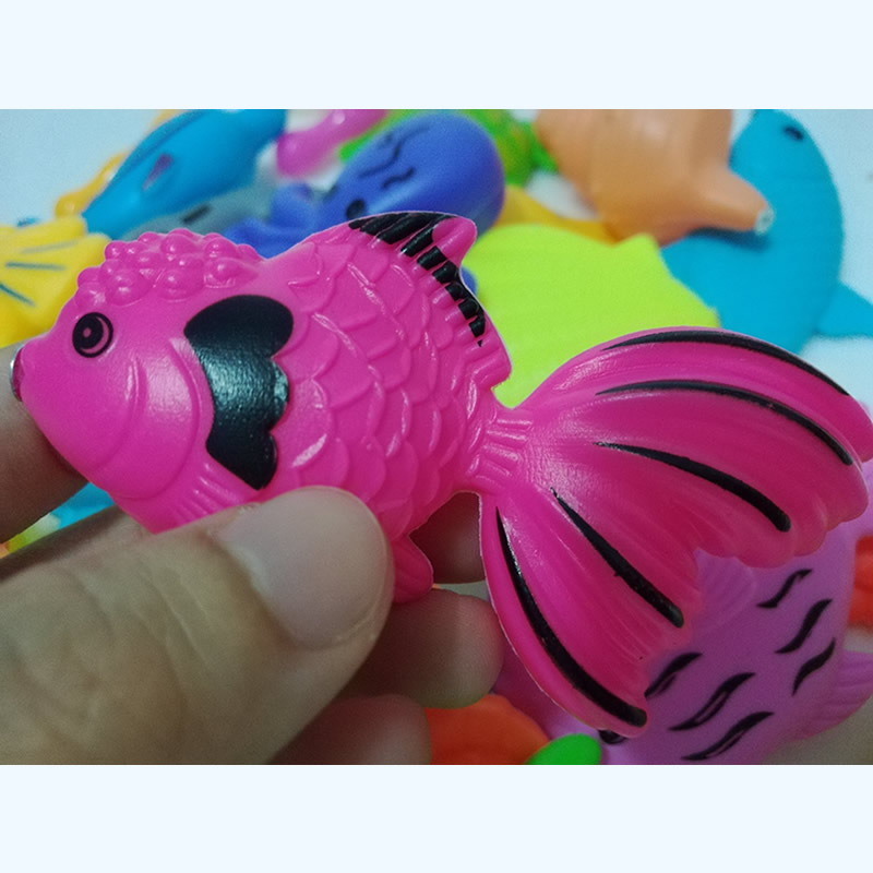 Lovely Too 50pcs Magnetic Fishing Toys Fish Magnet Games With Rod And Net Educational Toy For Children