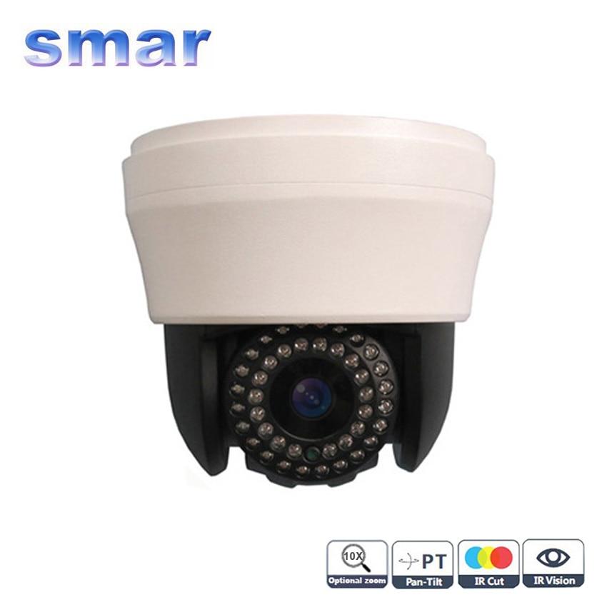 CCTV 4 Inch Mini  Speed Dome PTZ Camera 480TVL 700TVL Indoor IR Camera 10X Zoom Surveillance Camera Free Shipping mini 4 inch cctv 270x 650tvl outdoor 3 2 86 4 mm ir cut ptz