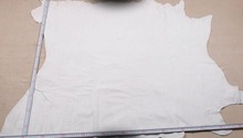 white Genuine Pig grain skin leather material sale by whole piece