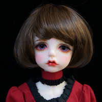 Cateleya Imitation of hippocampus mushroom head student head soft and easy to care for BJD SD doll wig 1/3 1/4 doll hair