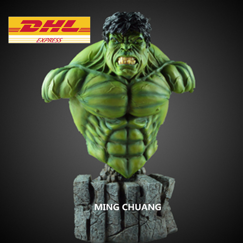 Statue Avengers Infinity War Bust Superhero Hulk 1:4 Half-Length Photo Or Portrait Resin Action Figure Toy D284 statue avengers superhero hulk 1 4 bust robert bruce banner full length portrait resin imitation iron collectible model toy w248