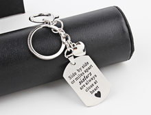 "Letter ""Side By Side Or Miles Apart Sisters Are Always Close At Heart""Pendant Key chain Keyring Stainless Steel Friends Family(China)"