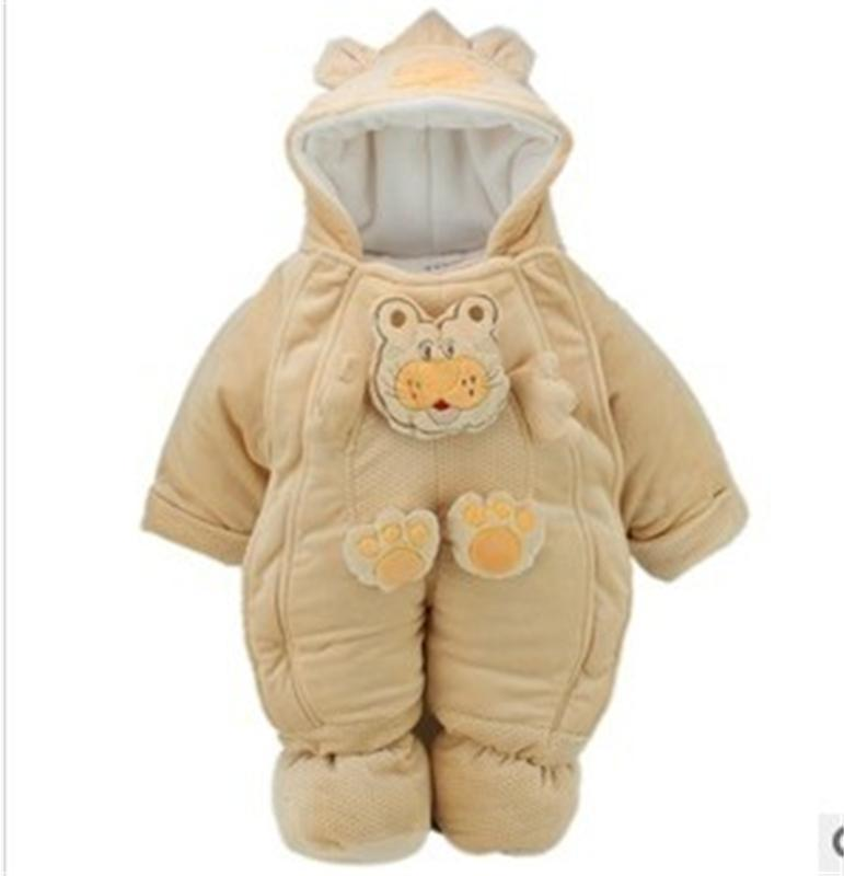 84ac2b44e569 Baby winter coats cotton padded jacket baby winter romper outdoor ...