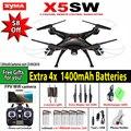 Syma x5sw/x5sw-1 wifi rc 6-axis drone quadcopter con fpv cámara sin cabeza en tiempo real rc helicóptero quad copter toys