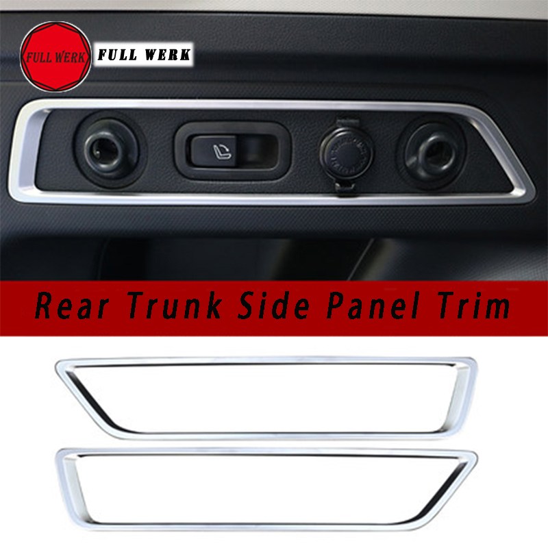 1 Pair Stainless Steel Car Styling Rear Trunk Side Panel Trim Frame Cover Sticker for Subaru Forester 2019 Interior Accessories