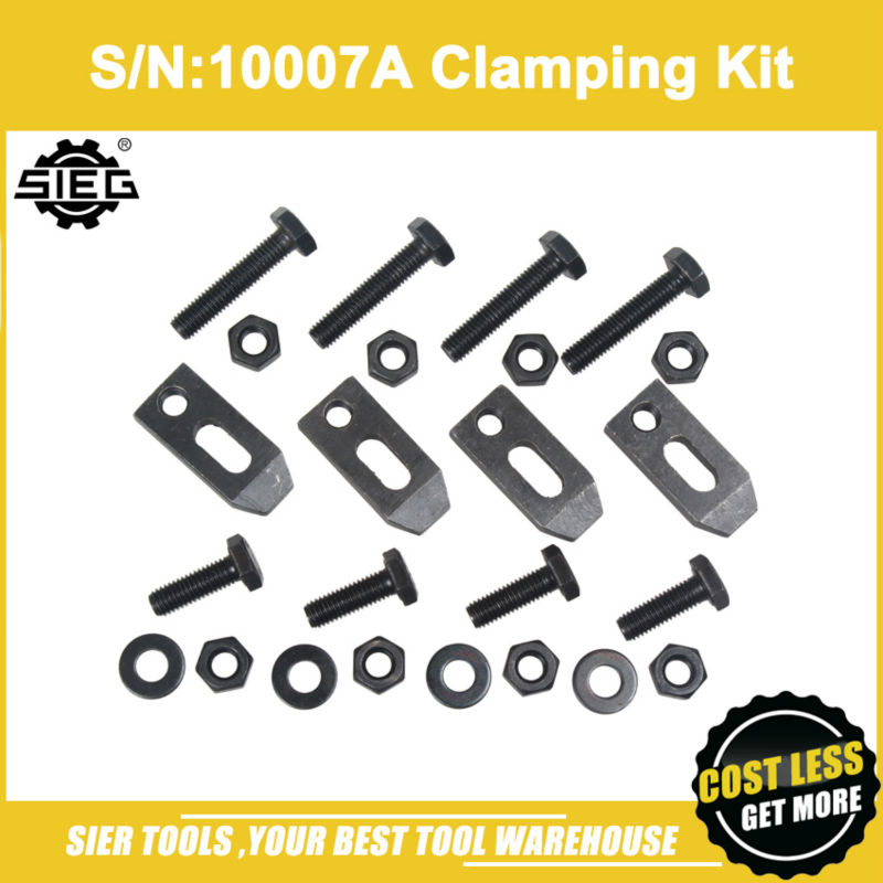 Free Shipping S N 10007A Clamping Kit for Face Plate SIEG C2 C3 SC2 SC3 M8