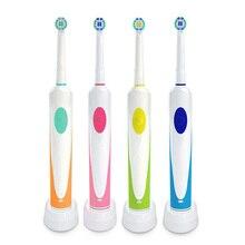 Cepillo de dientes eléctrico giratorio de carga por inducción con 2 cabezales de cepillo productos de higiene bucal limpiador de cepillos de dientes recargable