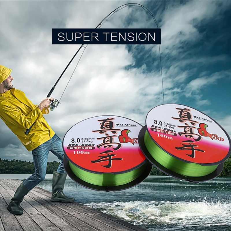 スーパープルナイロン 100 メートルフルオロカーボン釣り糸リーダーワイヤー釣りコードアクセサリー冬ロープフライフィッシングライン