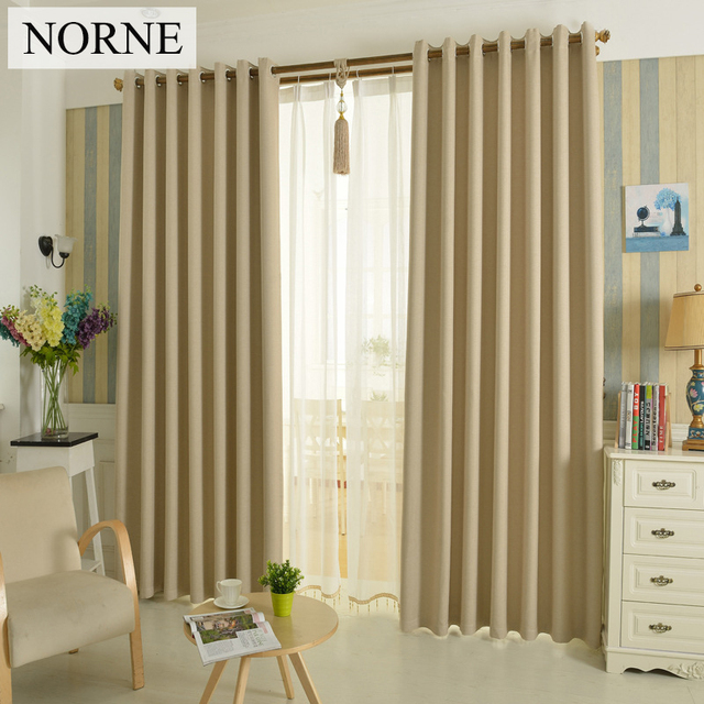 NORNE Solid Heavy Blackout Curtain 85% Shading Rate,Thermal Insulated  Privacy Assured Window Curtains