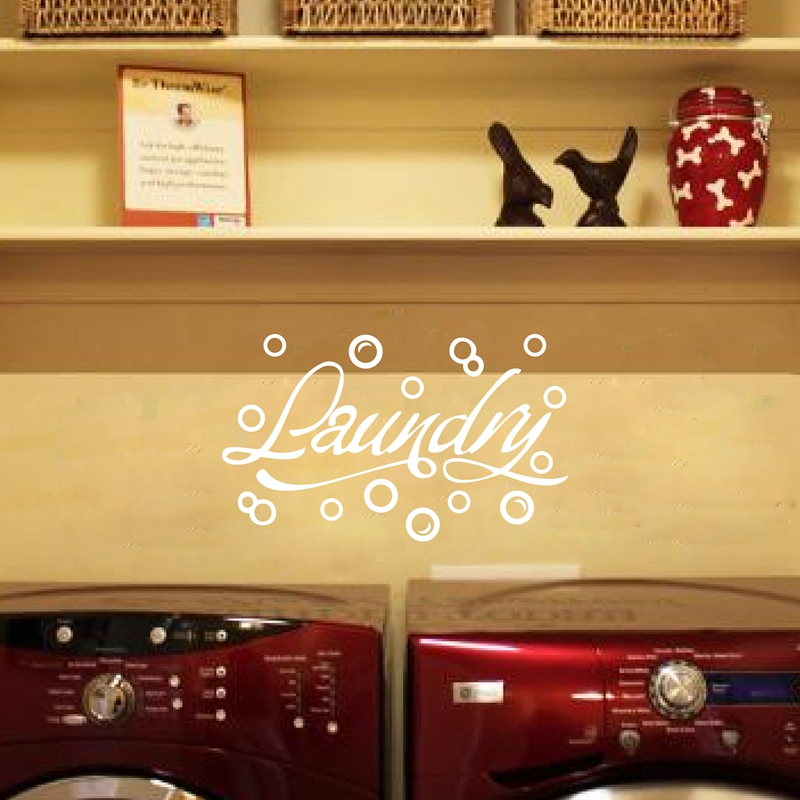 Free shipping Modern Home wall stickers Laundry Room decor Bubbles ...