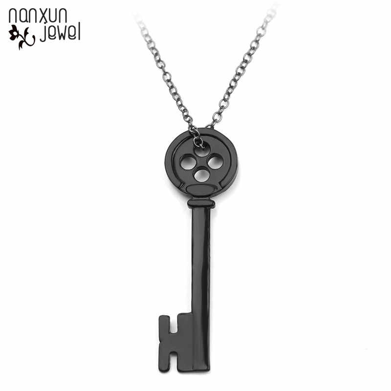 Movie Coraline Pendants Necklace Halloween Ghost Mother New Black Button Necklace Key Skull Choker Jewelry Gifts For Women Men Pendant Necklaces Aliexpress