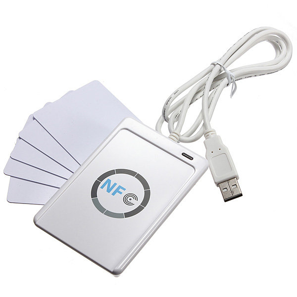 цена ACR122U-A9 RFID USB NFC Smart Card Reader Writer + 5pcs UID Card + M1 Clone Software
