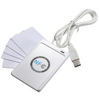 ACR122U A9 RFID USB NFC Smart Card Reader Writer 5pcs UID Card M1 Clone Software
