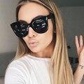 Winla 2017 moda gafas de sol mujeres primera marca de lujo gafas de sol de la vendimia femenina remache estilo eyewear uv400 shades marco grande