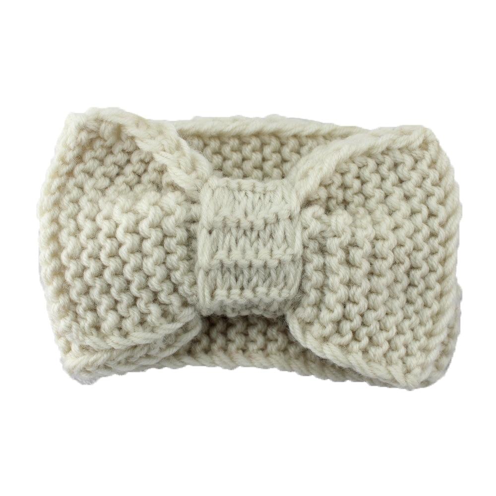 Ancho sólido Knitting Lana Turbante Diadema Invierno Del Oído ...