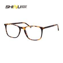 цена SHINU UV400 Blue Ray Resistance Multifocal Progressive Reading Eyeglasses See Near & Far Hyperopia Presbyopia Eyewear SH042 онлайн в 2017 году