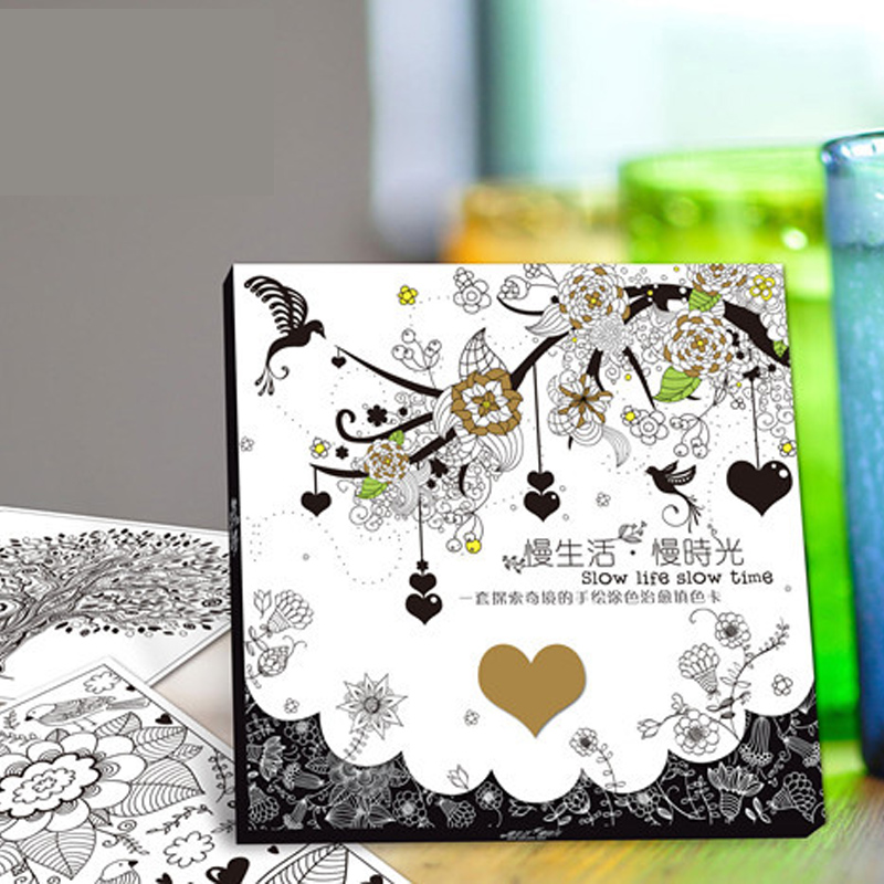 22 Pages 25x25CM Explore The Wonders Adults Coloring Book For Children Secret Garden Book Series Adultos Coloring Postcard
