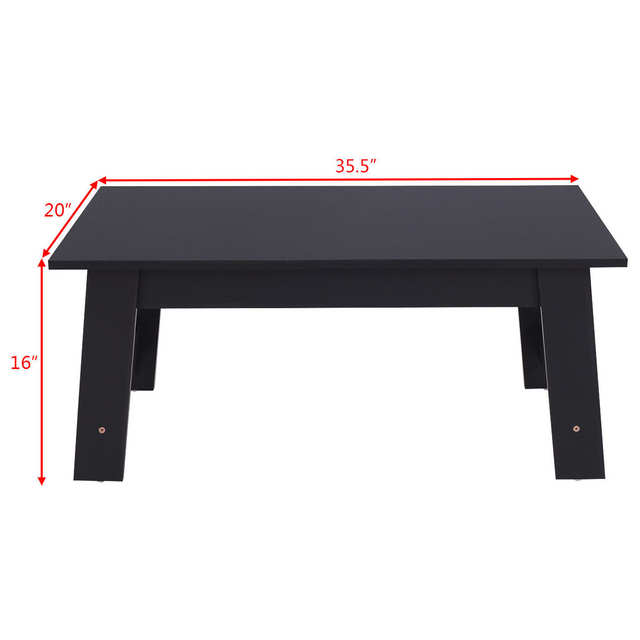 Online Shop Giantex Convenient Coffee Table Modern Living Room Side