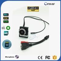 1.3MP Fisheye Mini IP Camera 960P HD Security Camera Camhi App CCTV Surveillance Cam Micro SD Card Recording PC Browser