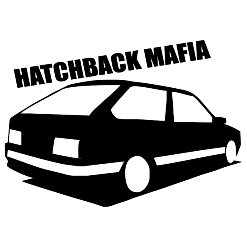 CS-135#14*20cm hatchback mafia <font><b>2113</b></font> funny car sticker and decal silver/black vinyl auto car stickers image