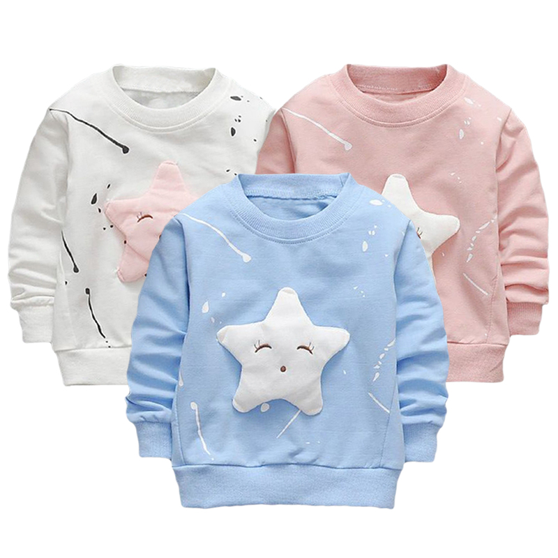 2703e09630f 2018 Children Autumn Winter Long Sleeve T Shirt Tops Kids Cute Solid ...