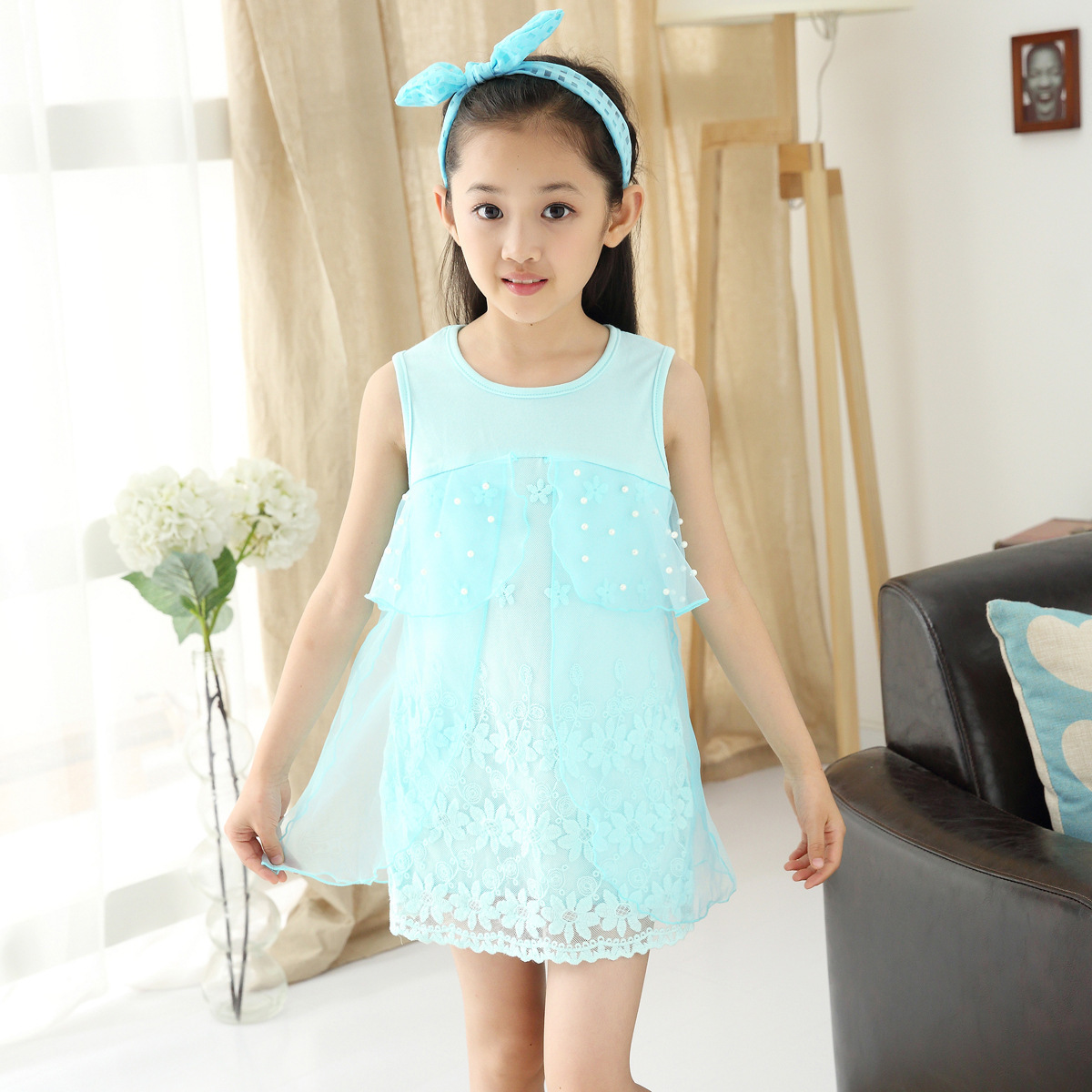Children's Garment Summer Wear New Pattern Korean Lace Mother And Daughter Parenting Children Dress Kids Clothing Mesh Pearls woody mutambo abraham sinyei and josephat onyancha parenting styles experienced by adolescents and assertive behaviour