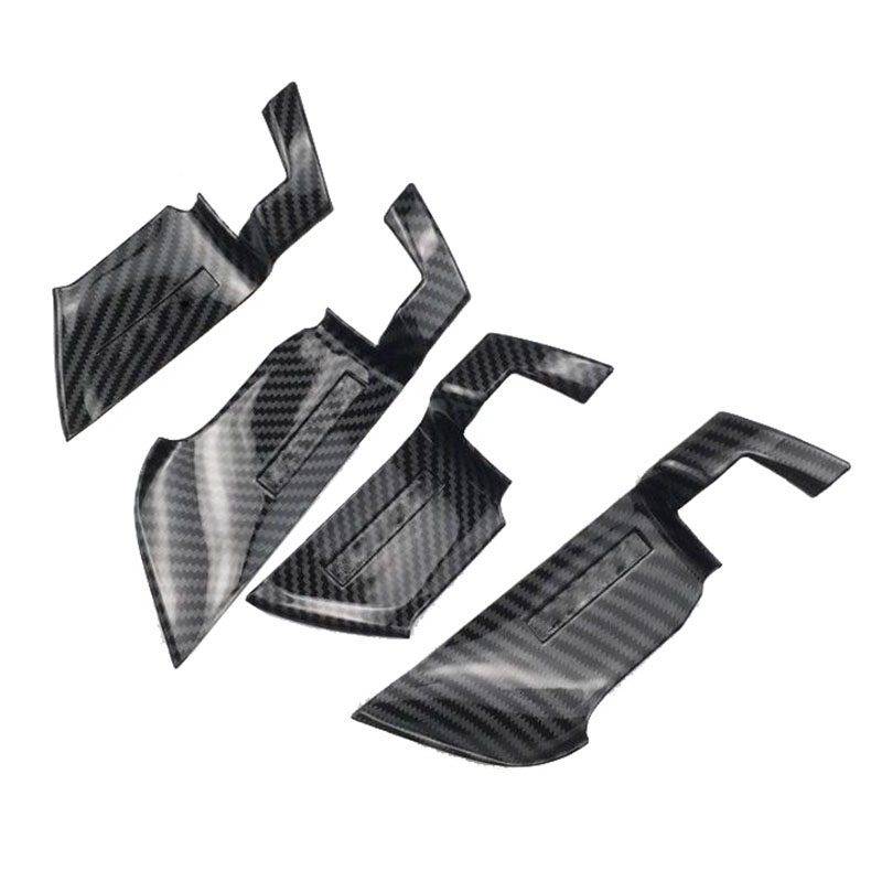 Car styling Carbon Fiber ABS Interior Car Door Handle Bowl 4pcs for <font><b>Honda</b></font> <font><b>Accord</b></font> <font><b>2018</b></font> styling <font><b>accessories</b></font> image