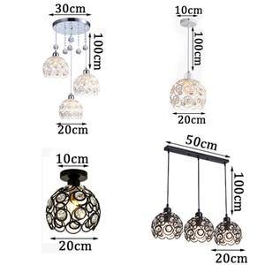 Image 5 - גביש מנורת מסעדת תליון אורות creative אישיות מודרני פשטות בר אוכל חדר יסעד תאורת אהיל (Dia: 20 cm)