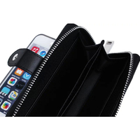 Textile Pattern Split Wallet Holster Cases For IPhone 6 Plus Money Credit Cards Cell Phones 3