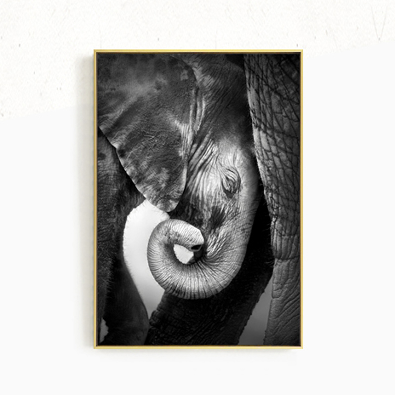 Home Quotes Wall Art Poster and Print Elephant Canvas Art Paintings Wall Pictures for Modern Living Room Decoration in Painting Calligraphy from Home Garden