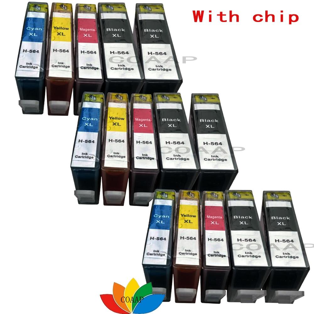 Cartuchos de Tinta compatível hp 564xl cartucho de Color : Black, Cyan, Magenta, Yellow