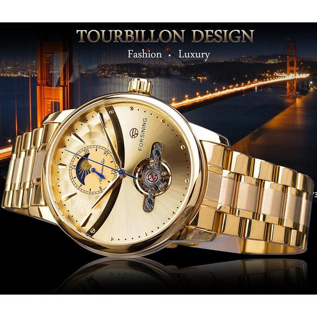 Automatic Self-Wind Male Watch Golden watch 1