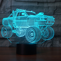 Newest 3D Suv Car Truck Night Light Desk Optical Illusion Lamps 7 Color Changing Lights LED