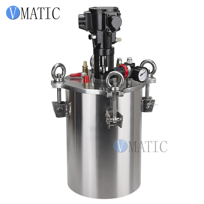 цена на Free Shipping Pneumatic Mixing Stainless Steel Air Pressure Glue Dispensing Pressure Tank/Pressure Container