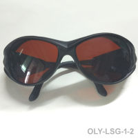 O.D 6+ laser safety glasses with CE for violet blue green lasers and IR lasers.405nm 445nm 450nm 473nm 515nm 532nm 980nm 1064nm