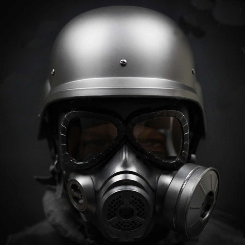 屋外エアガンマスクアウトドアスポーツ戦術ペイントボールマスクフルフェイススカルcsマスクと現代戦士タクティカルm88 absヘルメット