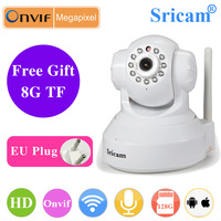 Sricam 8G 16G Card SP012 Wireless IP Camera 720P Home Security Surveillance Wireless Camera Onvif Night