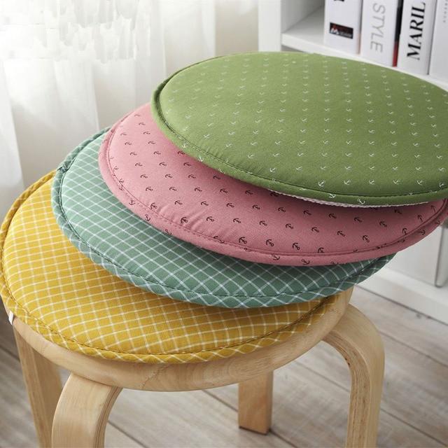 Japon Style Décoratif Circulaire Plaid Anchor Imprimé Tabouret Siège