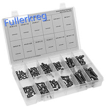 6-32 to 5/16-24 in 1/4 1 3/4 Lengths Socket Head Screw Assortment with 400 Pieces, Black-Oxide Alloy Steel