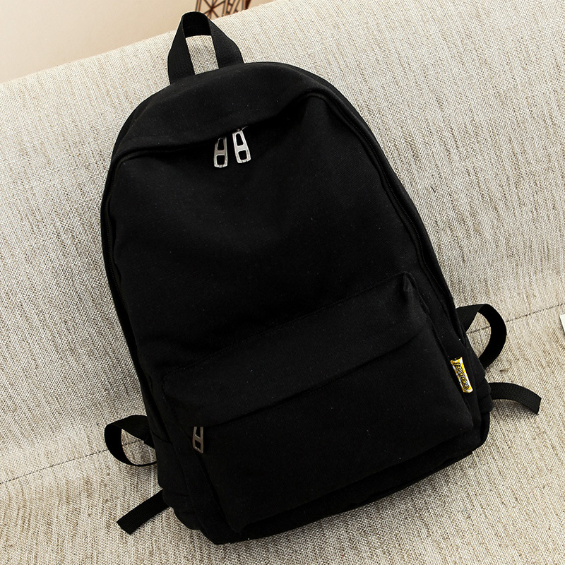 Canvas Pure Color Backpack Fashion Adolescent Girl Backpack Female Best Women Backpack Rucksack Mochila Bagpack Travel Bag #2