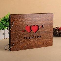 Деревянная крышка 18 Deisgn дюймов 8 дюймов ручной работы diy Фотоальбом 30 листов Бумага фотоальбомы альбом для ребенка семья свадьба памяти