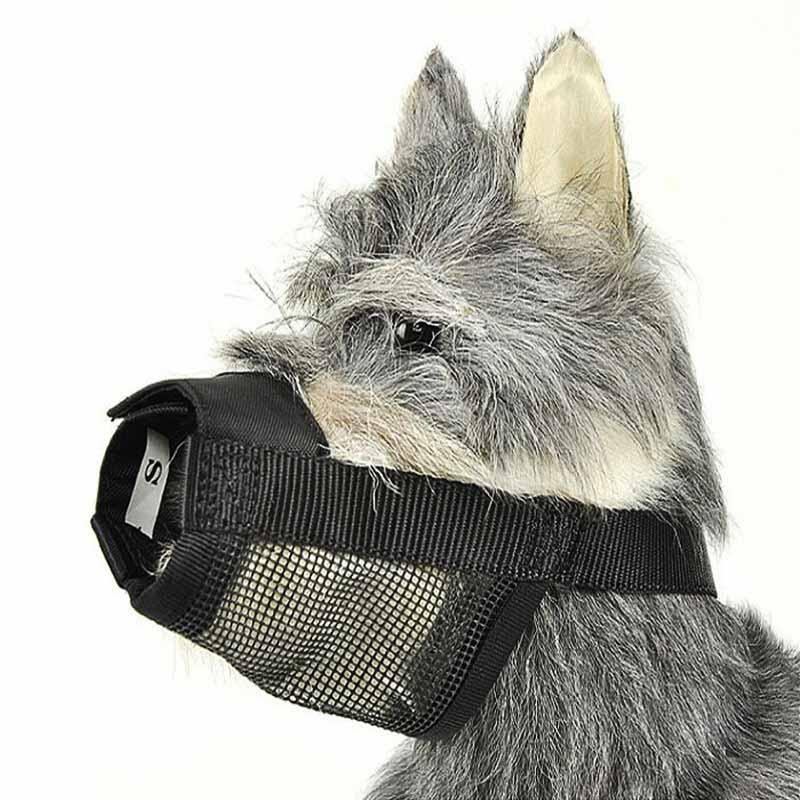 SYDZSW Superior Quality Dog Muzzle Breathable Mesh Black Nylon Pet Muzzle for Dog Puppy Dog Mask Prevent Bark Bite Pet Products7.1