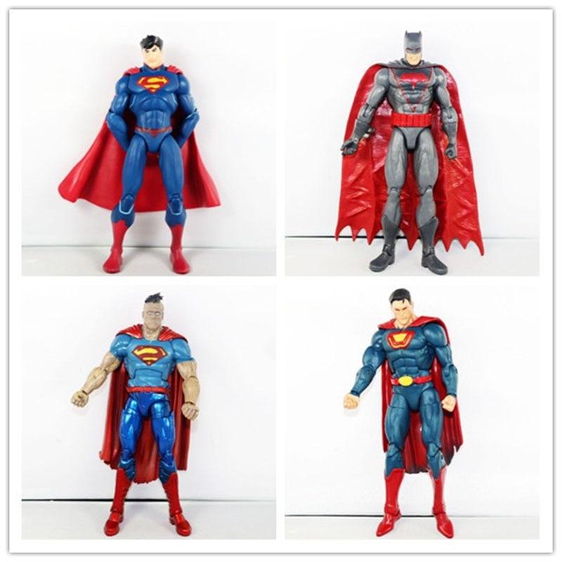4PCS Set DC Comics Justice League Super Heros Super Man Batman Figure Loose Free Shipping neca dc comics batman arkham origins super hero 1 4 scale action figure