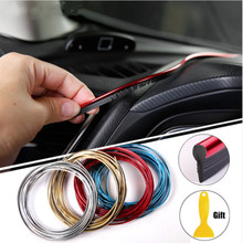 5M Car Styling Interior Accessories Strip Sticker For Ford Focus 2 Fiesta Mondeo MK4 Transit Fusion Kuga Ranger Mustang Armrest