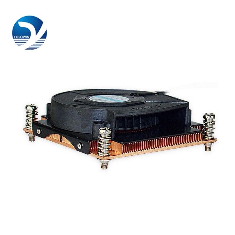 High quality inexpensive Support Intel CPU radiator ultra-thin platform machine screw 1u radiator cooling fan D8-04 1u radiator for intel platform 1356 1366 needle for cpu fan heatsink copper worm gear cooling