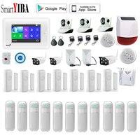 SmartYIBA 3g домашней охранной сигнализации системы IP камера беспроводной Wi Fi защита от взлома сенсор движения Android IOS APP управление Amazon Alexa